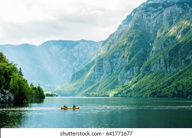 Canoeing on the Bohinj lake