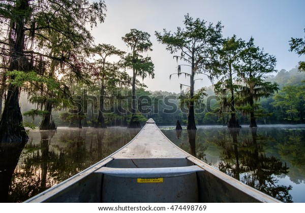 Canoeing on Saw Mill Pond at Caddo Lake State Park in Texas