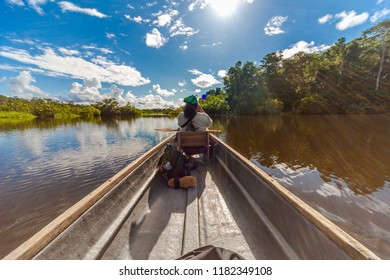 Canoeing, Rio Napo Riverside, Yasuni National Park, Ecuador, South America