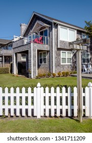Canon beach houses on the Oregon coast.