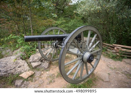 A canon at Gettysburg Battlefield