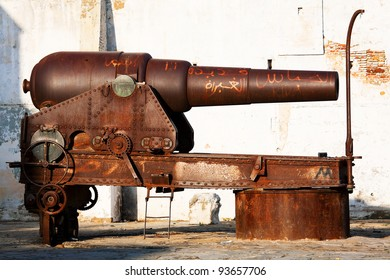 Canon in Tanger old medina, Morocco, Africa