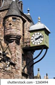 Canongate Clock, Edinburgh, Scotland