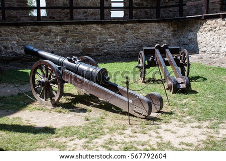 Canons in castle