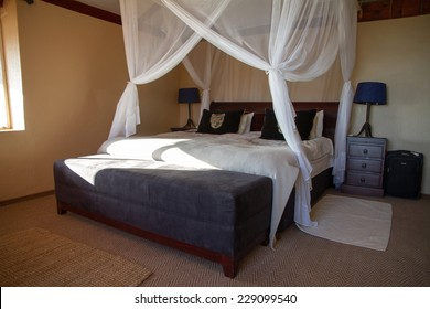 Canopy bed in a comfortable bedroom