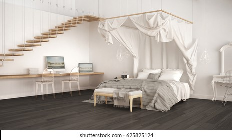 canopy bed stock images royalty free images vectors shutterstock. Black Bedroom Furniture Sets. Home Design Ideas