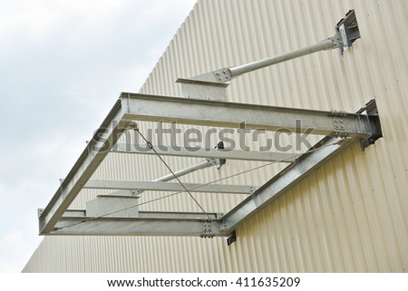 Canopy roof frame on building & Canopy Roof Frame On Building Stock Photo (Edit Now) 411635209 ...