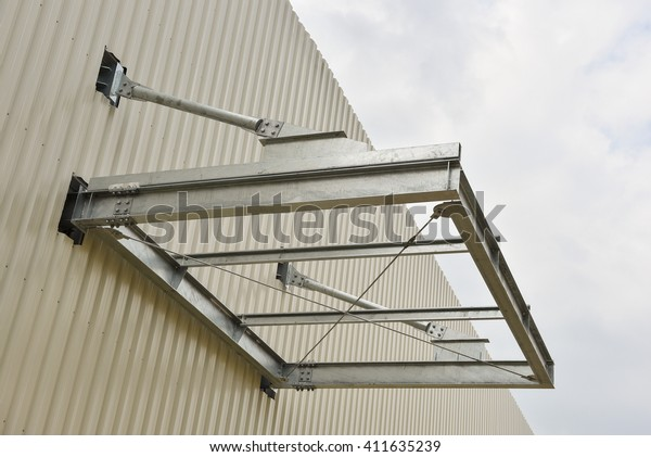 Canopy Roof Frame On Building Stock Photo (Edit Now) 411635239