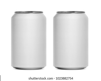 cans isolated on a white background