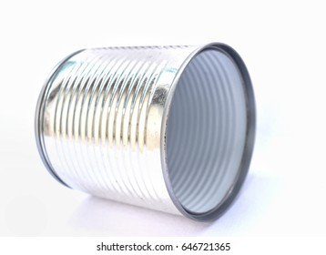 Cans of white background