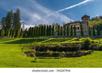 Cantacuzino Castle, Busteni, Bucegi National Park, Southern Carpathians Mountains, Transylvania, Romania