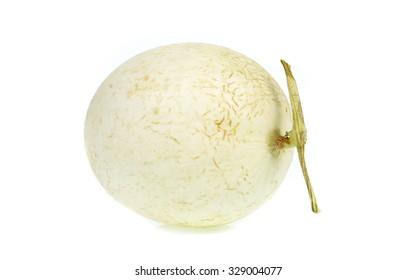 Cantaloupe isolated on white background.