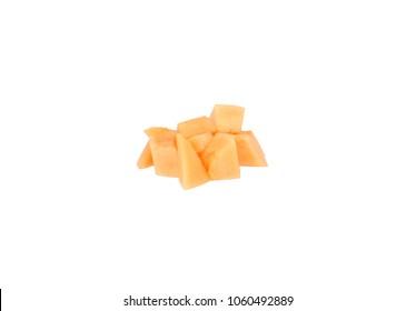 cantaloupe melon cantelope cantaloup muskmelon cubes