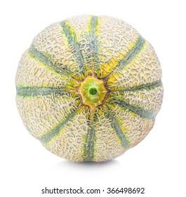 Cantaloupe Orange Melon isolated on white background