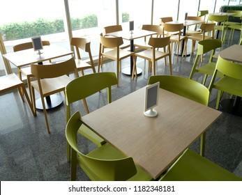 Canteen interior,Food center