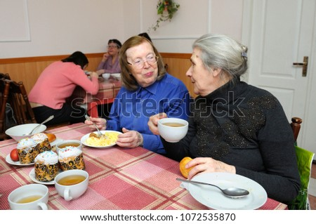 Image of: Begging Old People Sitting At Table And Having Free Dinner For Poor Shutterstock Canteen Old People Sitting Table Having Stock Photo edit Now