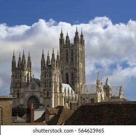CANTERBURY CATHEDRAL AND CITY SKYLINE KENT ENGLAND