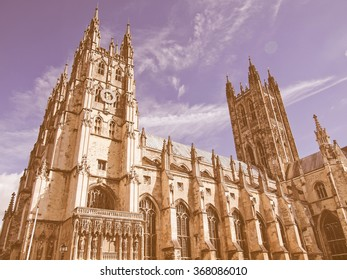 The Canterbury Cathedral in Kent England UK vintage