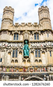 Canterbury, Kent, UK: The Christ Church Gate to Canterbury Cathedral