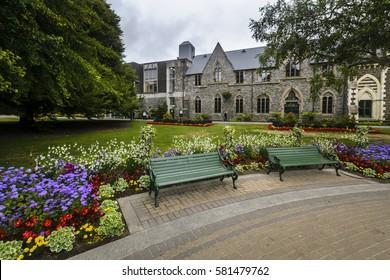 Canterbury museum next to botanical gardens, Christchurch, New Zealand
