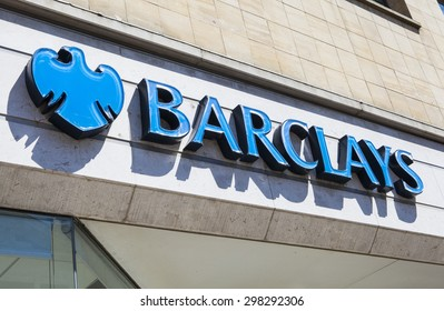 CANTERBURY, UK - 19TH JULY 2015: The sign for a Barclays Bank outlet in the UK, on 19th July 2015.