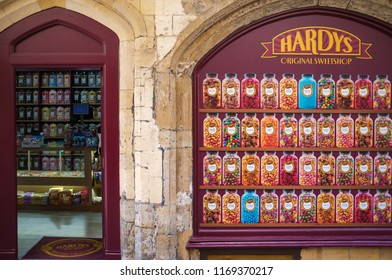 Canterbury, UK - August 9, 2015: Hardys candy shop in Canterbury