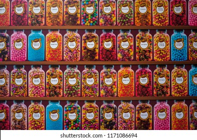 Canterbury, UK - August 9, 2015: Hardys candy shop in Canterbury texture