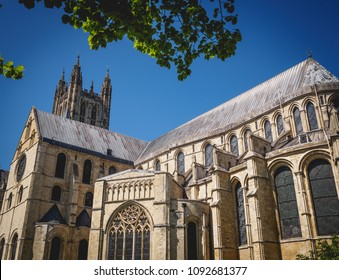 Canterbury, UK - May, 2018. View of the Canterbury Cathedral, one of the oldest and most famous Christian structures in England.