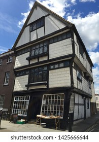 Canterbury / UK - May 25 2016: Old wooden building in Canterbury, UK