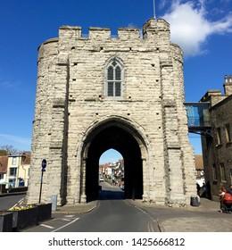 Canterbury / UK - May 25 2016: Archway in Canterbury, UK