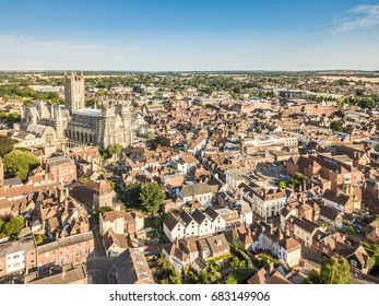 Canterbury view in summer, Kent, England