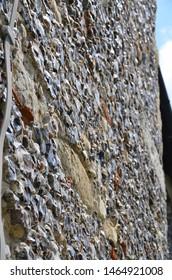 Canterburys Flint stone walls in England