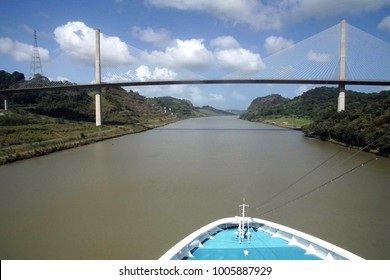 Cantilevered Centennial Bridge  across the Panama Canal