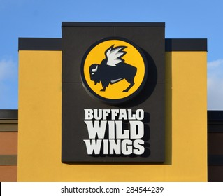 CANTON, MI - DECEMBER 30:  Buffalo Wild Wings, whose Canton location logo is shown on December 30, 2014, has over 800 restaurants.
