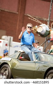 Canton, OH - 6 August 2016:  NFL Hall of Fame player Dan Fouts in a parade.