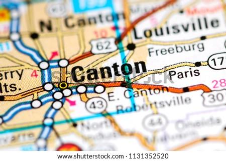 Canton Ohio Usa On Map Stock Photo Edit Now 1131352520 Shutterstock
