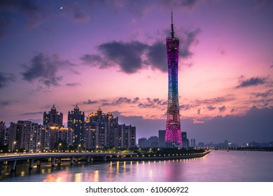 Canton Tower in the evening