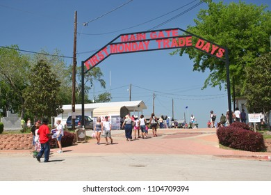 Canton, TX - March 31, 2012: People entering main Gate of First Monday Trade Days in Canton, TX