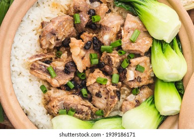 Cantonese style rice with Stewed rice with spareribs