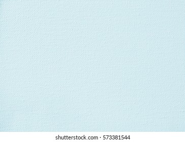 Canvas burlap natural fabric pattern background for painting in pastel teal blue color