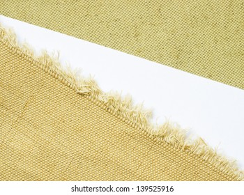 canvas edge fabric texture for old fashioned background