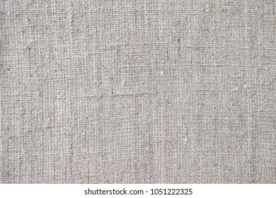 Canvas fabric for painting. Hemp or linen fabric with a linen weave, threads are perpendicular