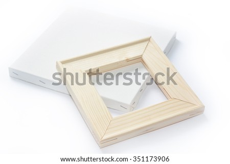 Canvas On Wooden Frame Stretcher Bar Stock Photo (Edit Now ...