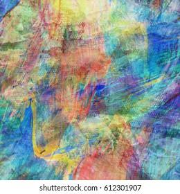 Canvas paint texture background