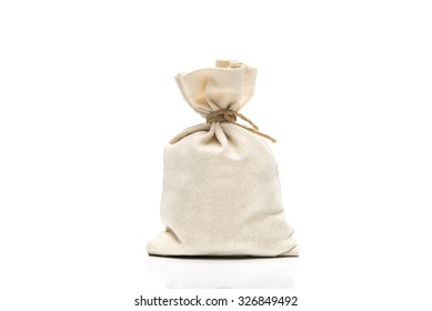 Canvas sack isolated on white background