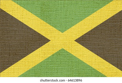 canvas styled flag of jamaica