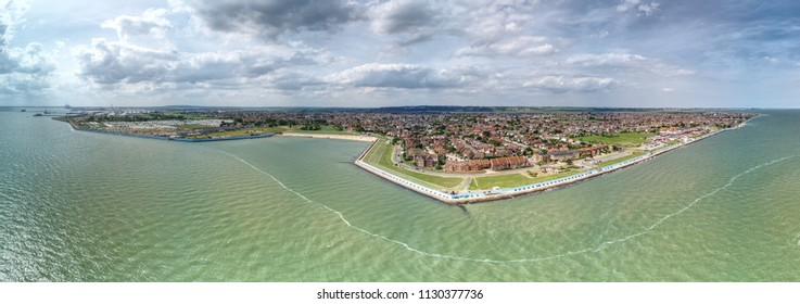 Canvey Island Seafront, Essex, UK - Panoramic