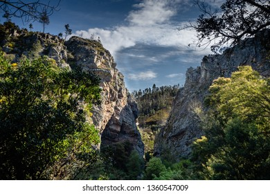 canyon with clouds in figueiro dos vinhos, portugal.ff