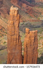 Canyon de Chelly National Monument, Navajo Nation, Arizona./ Canyon de Chelly/ In the valley or on the ridge, the Navajo people have lived in this red rock canyon for thousands of years. Spider women.