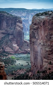 Canyon de Chinle, Navajos farm land  in Arizona, USA